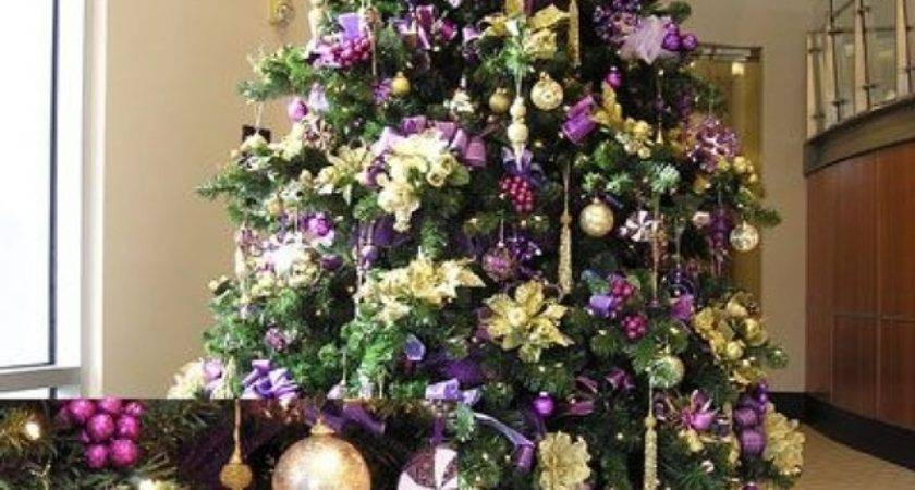 Christmas Tree Decorations Purple