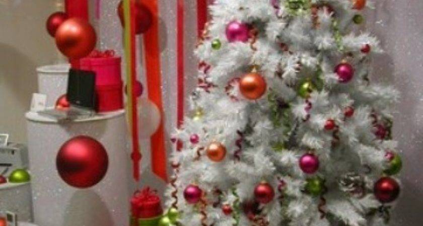 Christmas Tree Decorations Red White Decoration