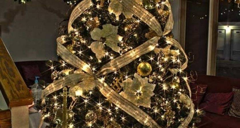 Christmas Tree Ribbon Decoration Ideas Designcorner