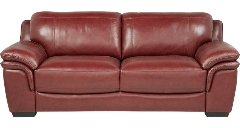 Cindy Crawford Home Grand Palazzo Red Leather Sofa