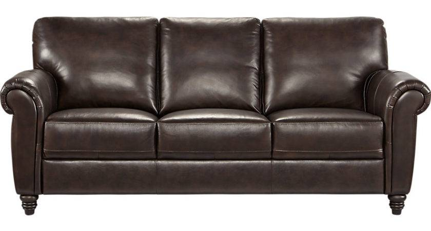 Cindy Crawford Home Lusso Coffee Bean Leather Sofa