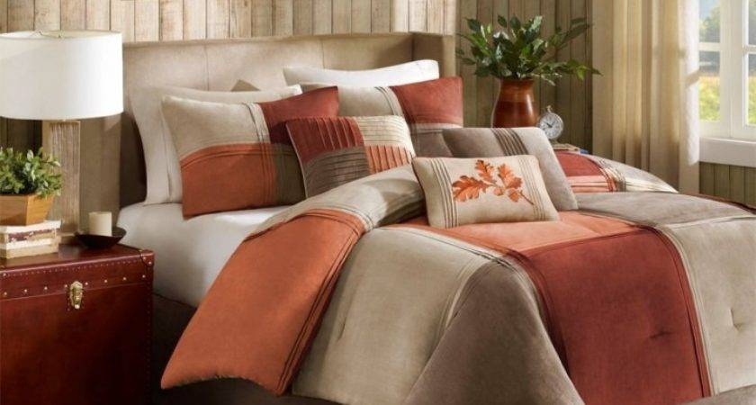 Classic Bedroom Ideas Brown Orange Bedding Sets