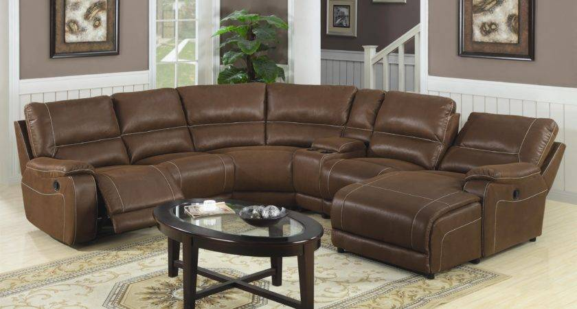 Classic Brown Leather Sectional Couch Comined Unique