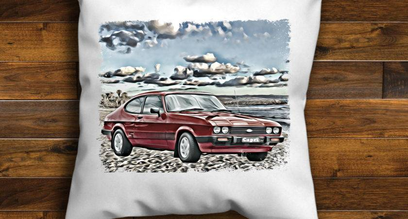 Classic Ford Capri Unique Design Cushion Cover Handmade