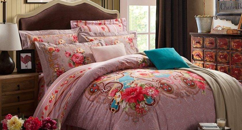 Classic Indian Tribal Pink Red Blue Romantic