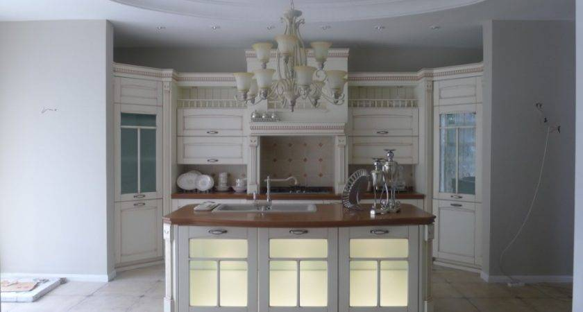 Classic White Kitchen Cabinets Glass Doors