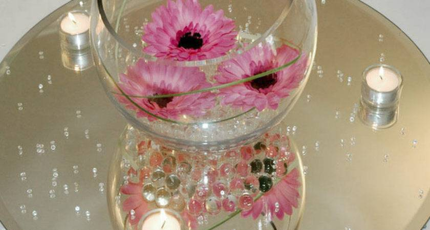Clear Mirror Base Centerpieces Round Square Ebay