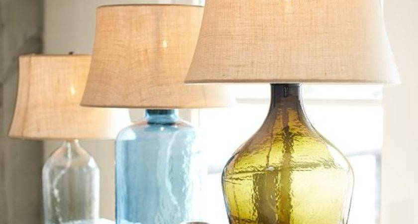 Clift Glass Table Lamp Base Green Pottery Barn