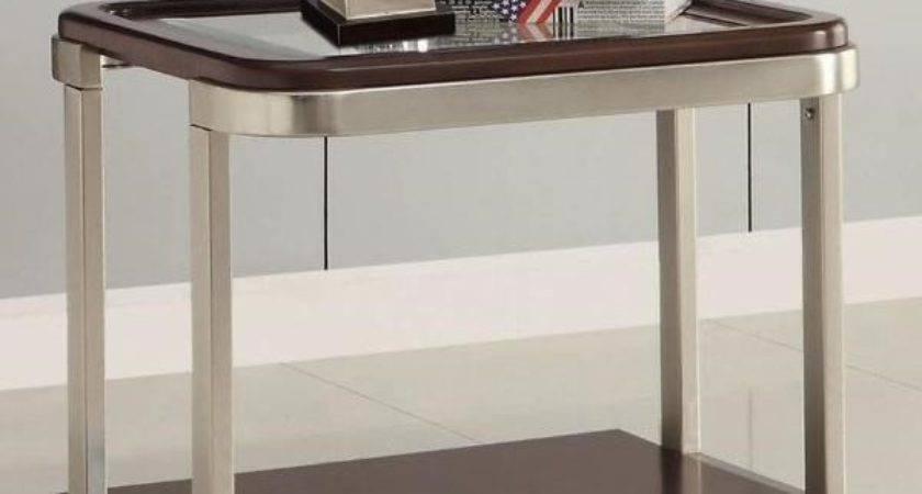 Coaster Furniture Glass Top End Table