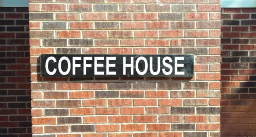 Coffee House Hand Painted Custom Wood Sign Distressed Rustic