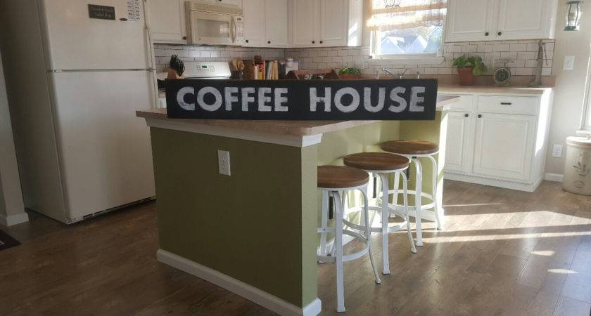 Coffee House Sign Station Hand Painted Kitchen