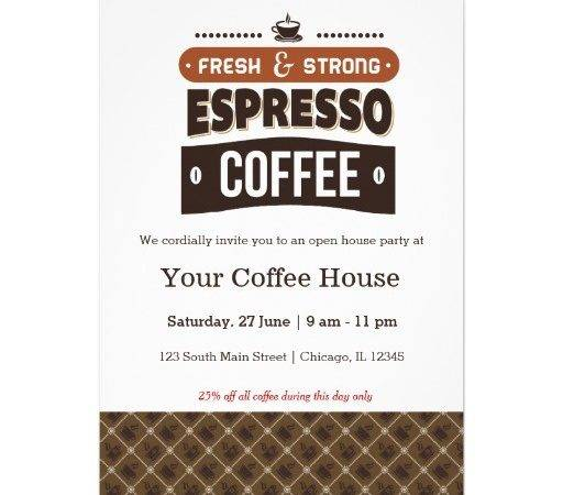Coffee Invitations Invites