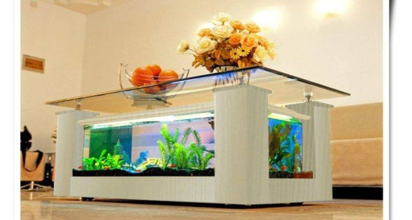 Coffee Table Fish Tank Unique Living Room