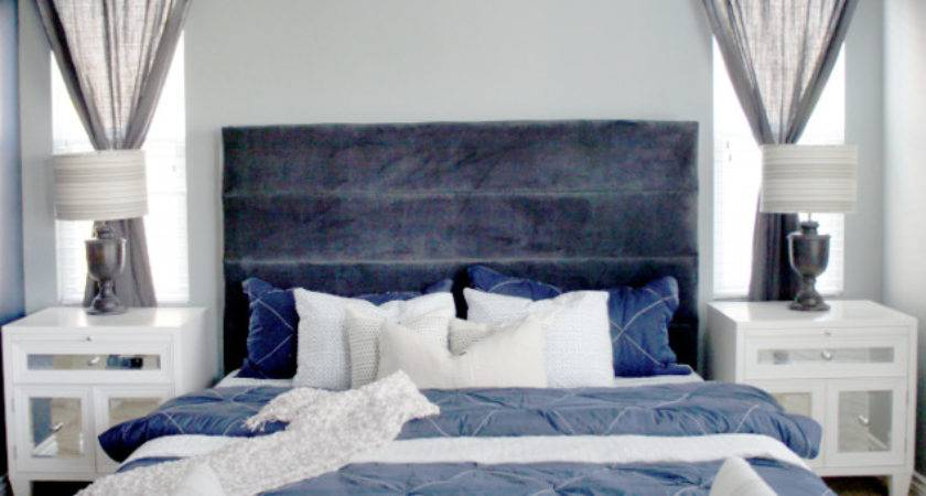 Cole Barnett Navy Blue Gray Master Bedroom Remodel