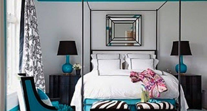Coleman Turquoise Blavk White Bedroom