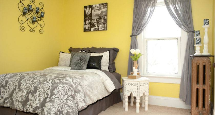Color Curtains Yellow Walls Black