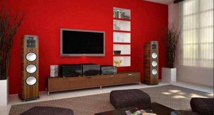 Color Paint Goes Brown Furniture Red Wall