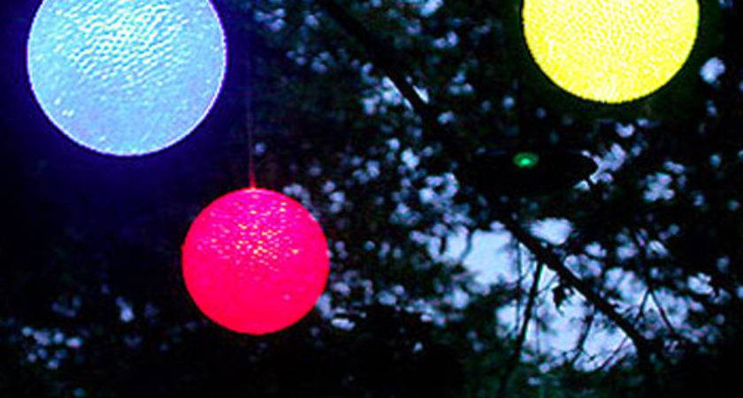 Colored Outdoor Christmas Light Balls Amusing