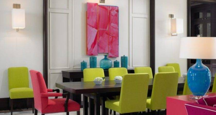Colorful Chairs Great Way Add Dynamism