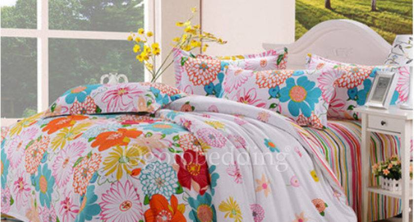 Colorful Floral Trendy Stylish Twin Teen Bedding Sets