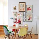 Colourful Dining Table Chairs Colored