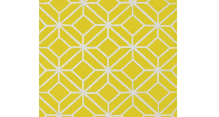 Colours Clyde Cream Yellow Geometric Rug