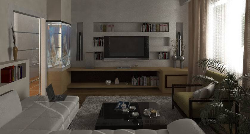 Comfortable Contemporary Bachelor Pad Decorating White