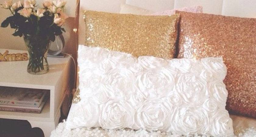 Comfy Decor Decorations Fluffy Girly Glitter Gold
