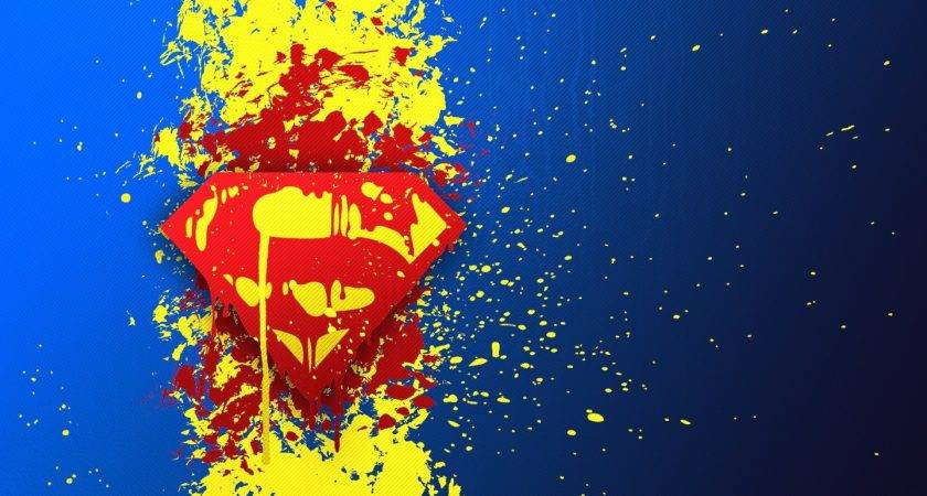 Comics Superman Logo Blue Paint