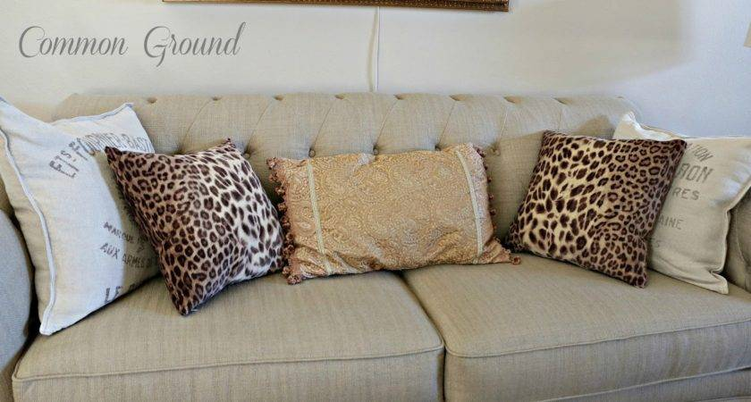 Common Ground Living Room Leopard Print Pillows