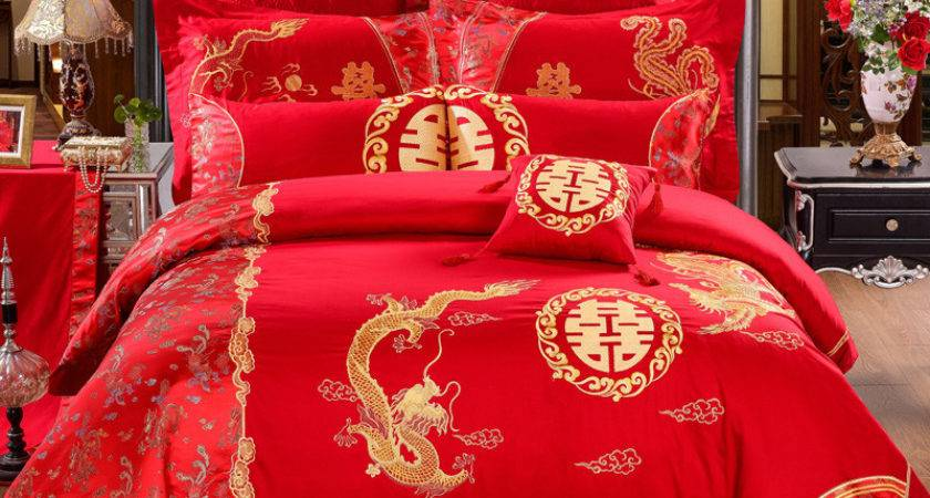 Compare Prices Red Gold Duvet Cover Shopping