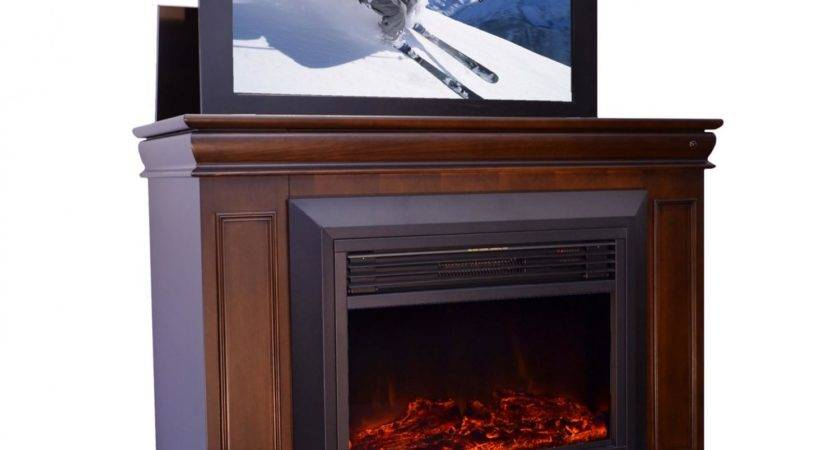 Conestoga Electric Fireplace Lift Cabinet