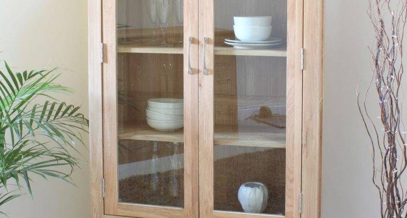 Conran Solid Oak Furniture Display Cabinet Glazed Dining