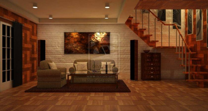 Contemporary Brown Living Room Interior Design Ideas