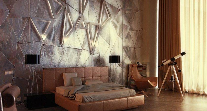 Contemporary Headboard Feature Wall Interior Design Ideas