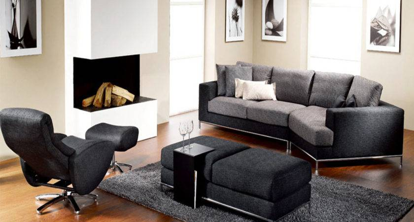 Contemporary Living Room Chairs Dominated Black Color