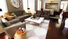 Contemporary Living Room Gray Eggplant Tones Hgtv