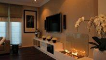 Contemporary Open Flame Fireplace Flowers Olpos Design