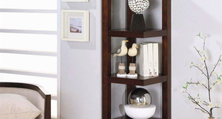 Contemporary Small Corner Shelving Unit