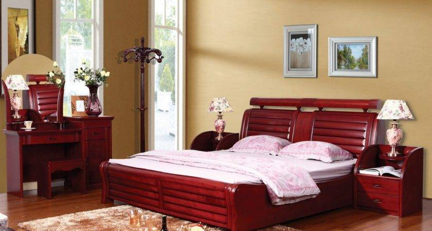 Contemporary Solid Wood Bedroom Furniture Raya