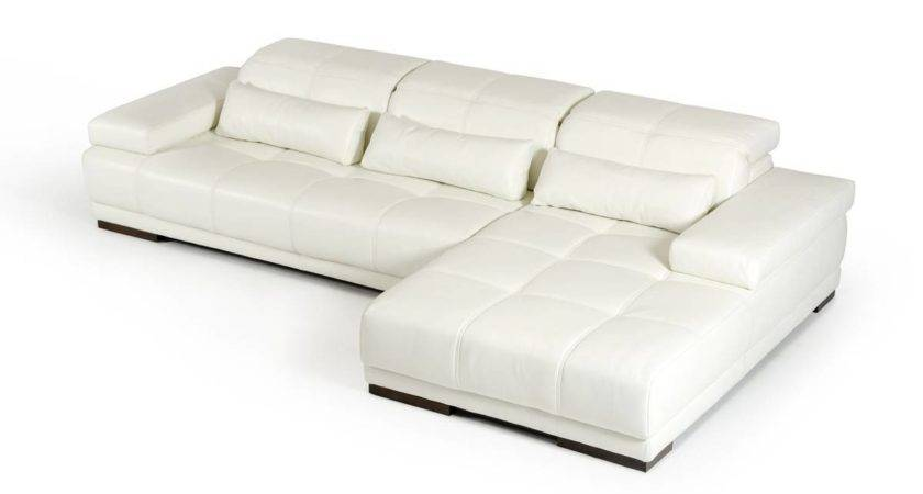 Contemporary Style Leather Corner Couch Pillows