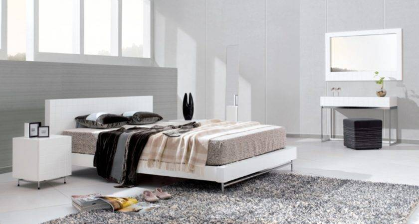 Contemporary White Bedroom Furniture Raya