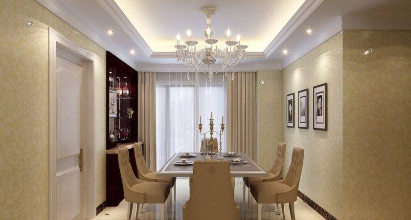 Contracted European Style Dining Room Interior Design