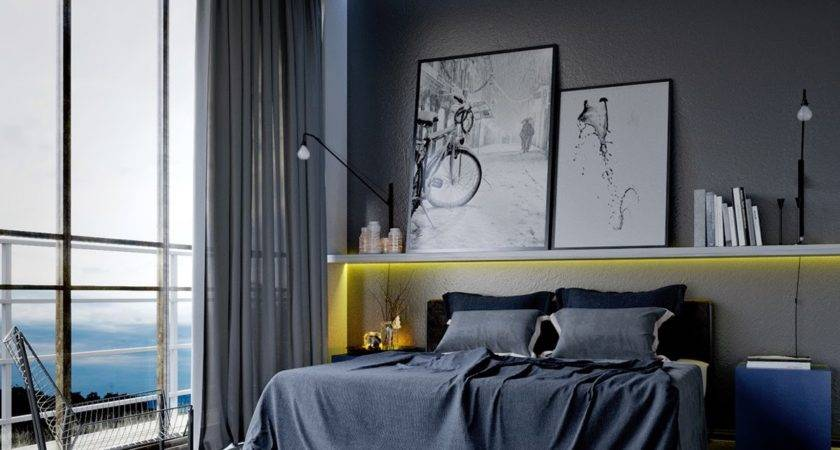 Cool Bedroom Ideas Men Also Gray Curtain Color