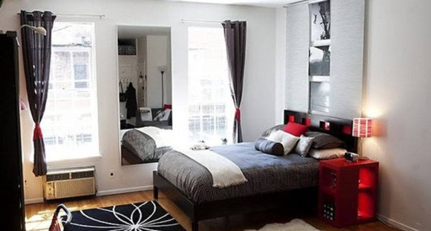 Cool Black Red Bedroom Design
