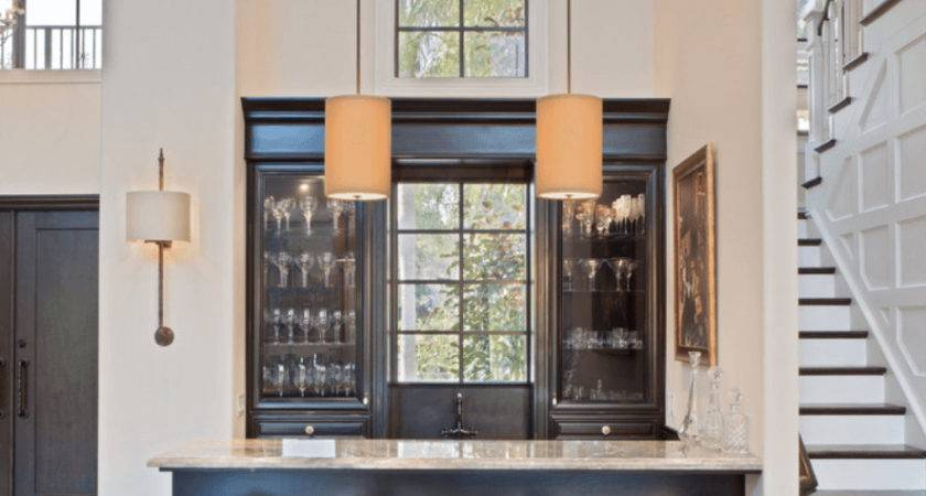 Cool Home Bar Design Ideas Comes Black Color Wooden
