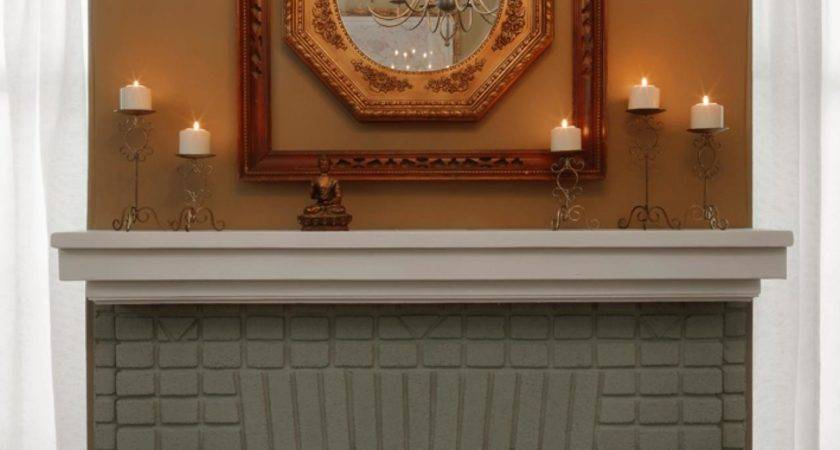 Cool Ideas Paint Brick Fireplace Home Painting