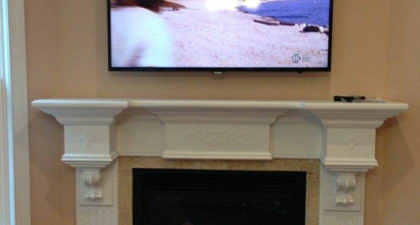 Cool Over Fireplace Put Cable Box