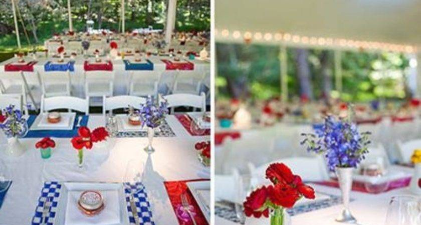Cool Red White Blue Decorations Decorating Design