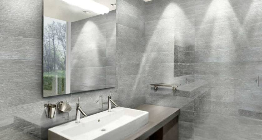 Cool White Silver Bathroom Home Design Great Top